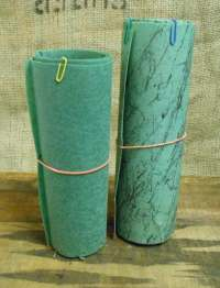 Vintage Two Pieces 4 Foot Lengths Fiberglass Lamp Shade Fabric
