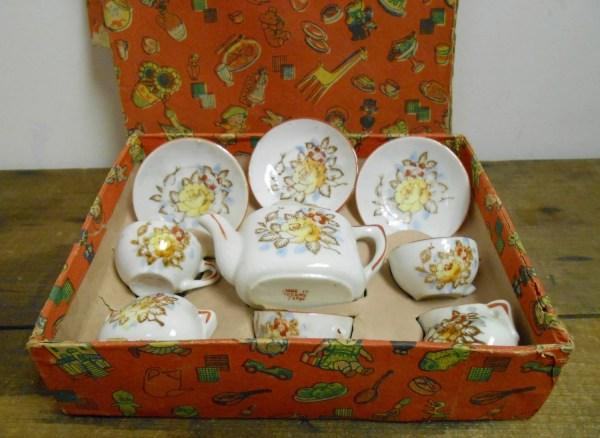 Vintage Children's Toy China Tea Set Made In by ...