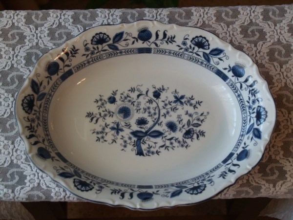 Serving Dish Stone China In Japan Platter Blue