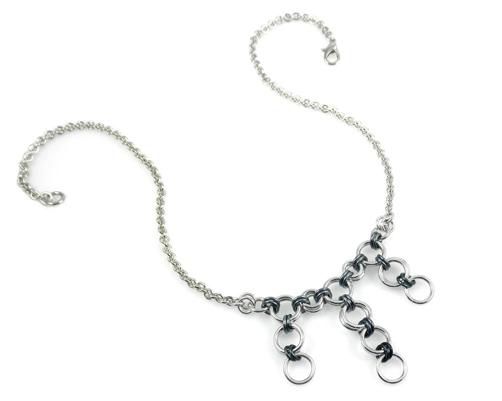 Elegant chain mail and glass jewelry by JeleneBrittenDesigns