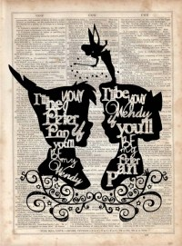 I'll Be Your Peter Pan Dictionary Art Print Vintage
