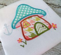 Mushroom House Machine Embroidery Design