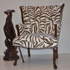 White Shell Chair Kane Design Sold Vintage Back Brown And Zebra Print