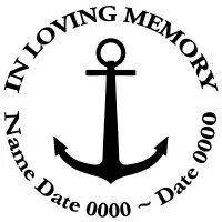 In Loving Memory Round Anchor Decal