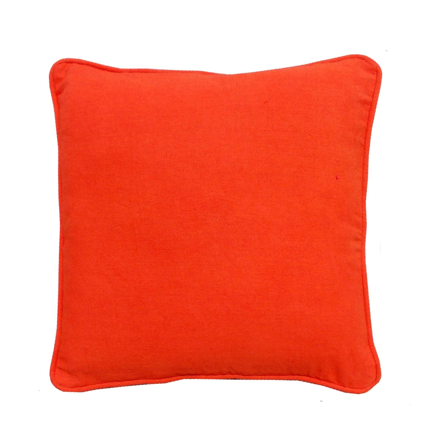 bright colored sofa pillows ashley furniture alenya and loveseat decorative orange pillow cover cotton by vliving