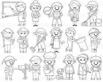 Community Helper Paper Puppets