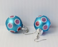 Christmas Ball Ornament Earrings Christmas earrings