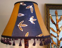 OOAK Curvy Red & Gold Lamp with a Blue and by ...