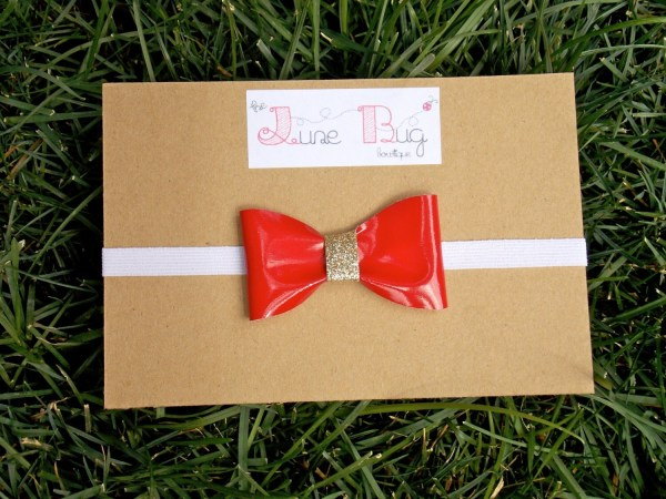 Candy-apple Red Bow Thejunebugbowtique