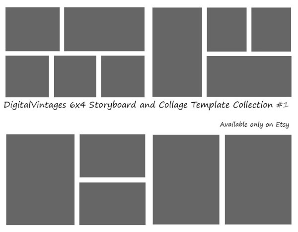 Instant Download 6x4 Storyboard Photographers Template 4