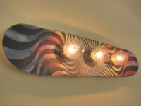 Custom Skateboard Wall Light Fixture
