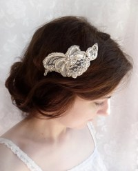 lace hair piece bridal headpiece lace bridal hair