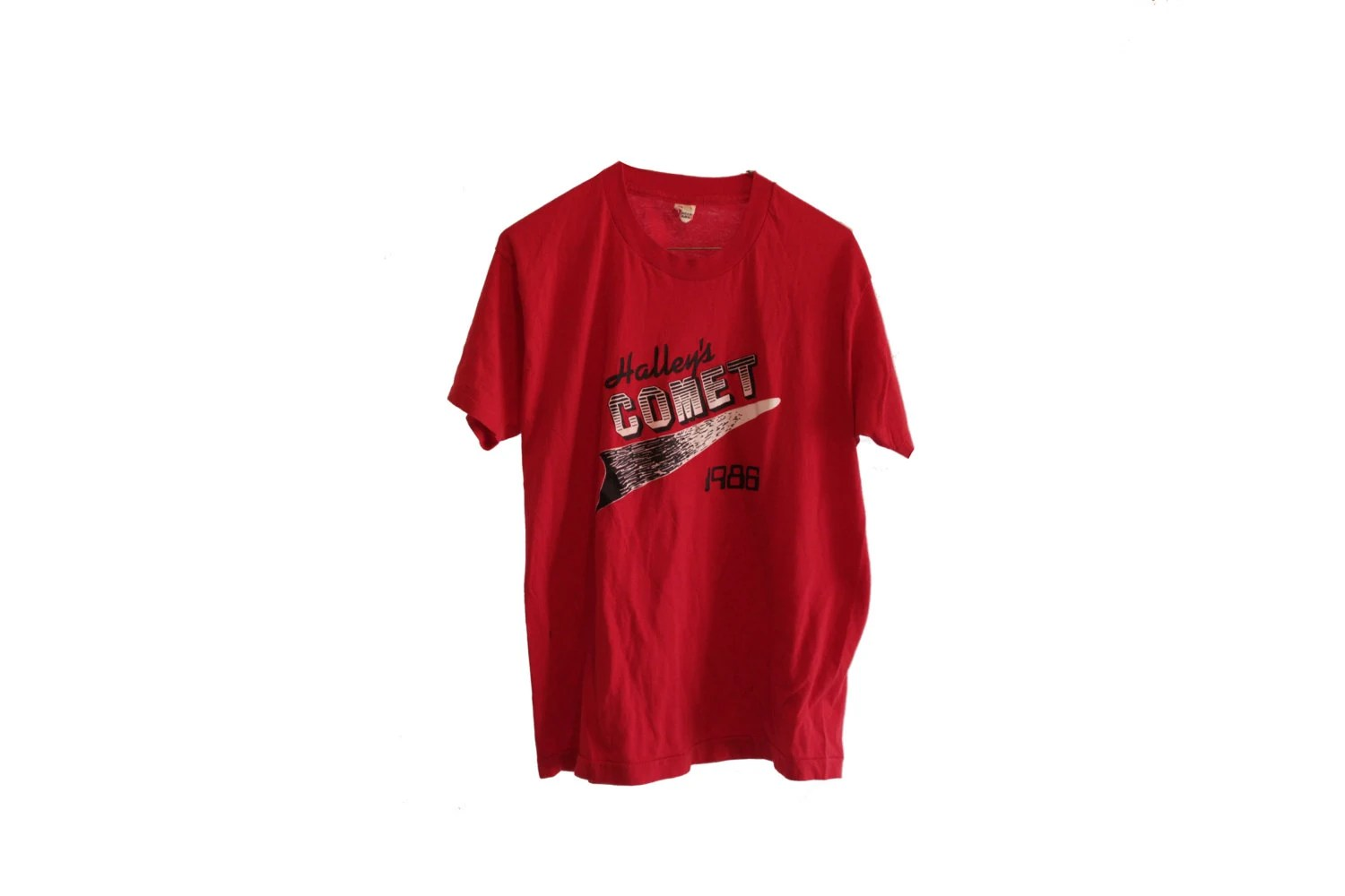 Halley S Comet Vintage T Shirt Red Screen Stars Size