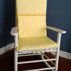 Polka Dot Rocking Chair Cushions Gold Office Cushion Cover Yellow Grey