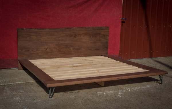 Platform Bed Frame King Size Solid Wood Live