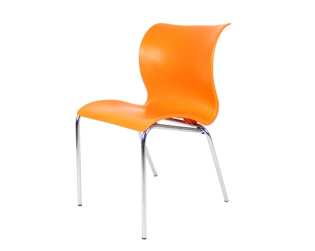 Modern Orange Chair Mid Century Modern Orange Plastic Chair Made In Italy Italian