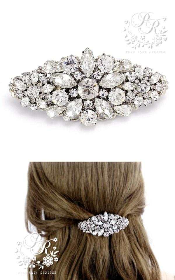 Wedding Hair Clip Rhinestone Barrette Bridal