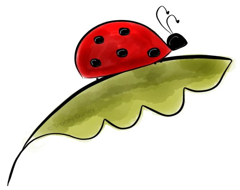 ladybug leaf clip art cliparts