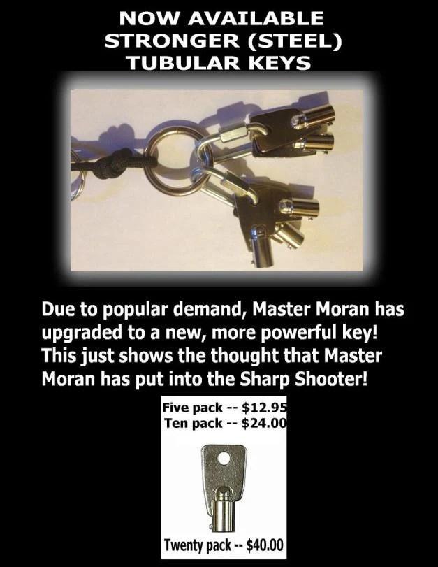 Strong steel tubular key 5 pack