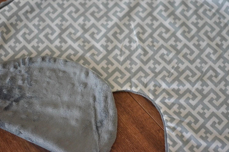 boppy baby chair uk dining room seat covers waterproof grey cover slip greek key by