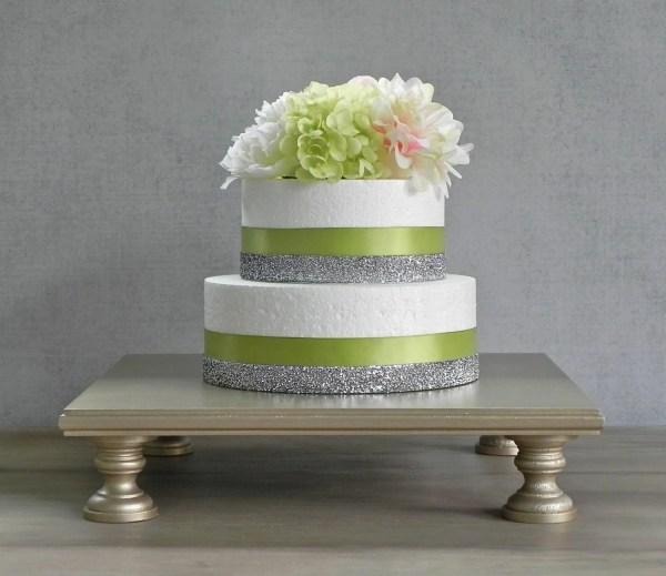 Wedding Cake Stand Champagne Square Cupcake Eisabelladesign