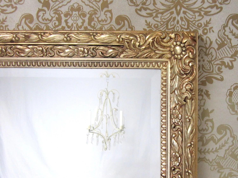 VINTAGE FRAMED MIRRORS For Sale Large Gold Framed Mirror