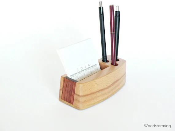 Home office organizer  desk organizer  small wood desk storage  MADE TO ORDER