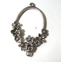 Flower Pendant or Hoop Earring Parts Connector Finding ...