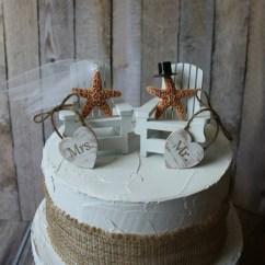 Adirondack Chair Cake Topper Markus Swivel Review Starfish Wedding Beach