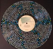 Eagles Hotel California Lyrics Handpainted Vinyl Record