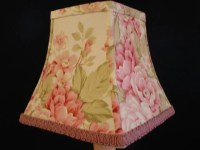 English Country Cottage Decor Lamp Shade Pink and White