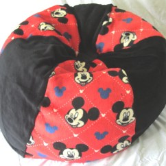 Mickey Mouse Bean Bag Chair Desk Keeps Rising With Name Floor By Bluemonkeystyle