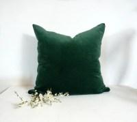 Dark Green Velvet Pillow Case // Forest Green velvet ...