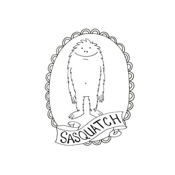 BigFoot Sasquatch Yeti Cryptozoology by teenytinyhappythings