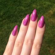 holographic light pink stiletto