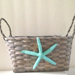 Beach Chair Bathroom Accessories Replacement Mesh For Pool Chairs Gray Woven Basket Turquoise Starfish Bath Decor Soap Holder