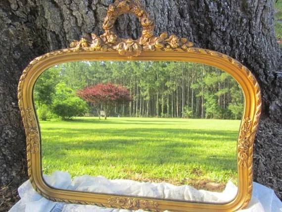 Antique Mirror Vintage MirrorGold Gilt Frame Wood Frame