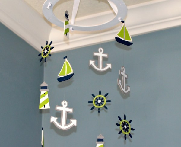 Nautical Nursery Mobile Sailboat Anchor