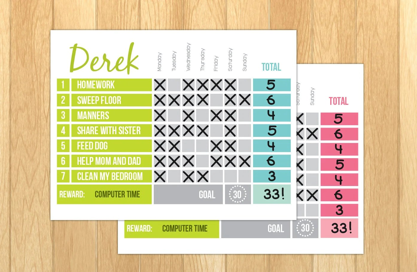 Printable Reward Chart Printable Chore Chart Editable
