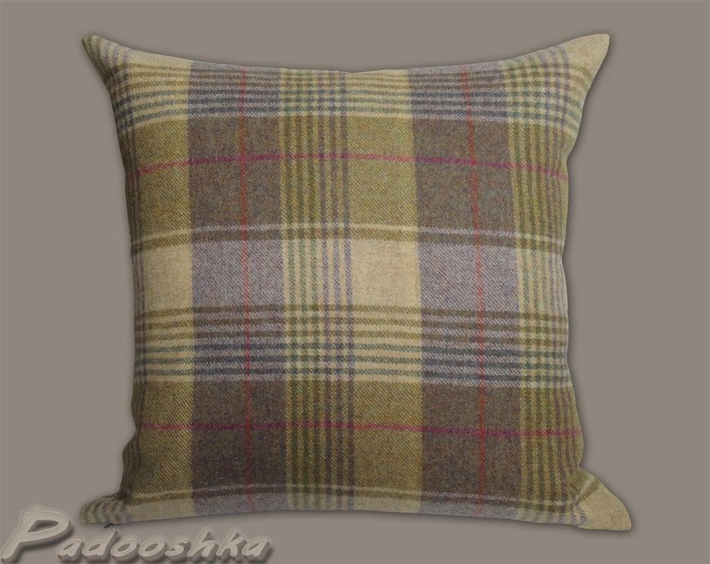 chair covers scotland tuscan dining chairs purple plaid cushion cover scottish tartan wool tweed pillow