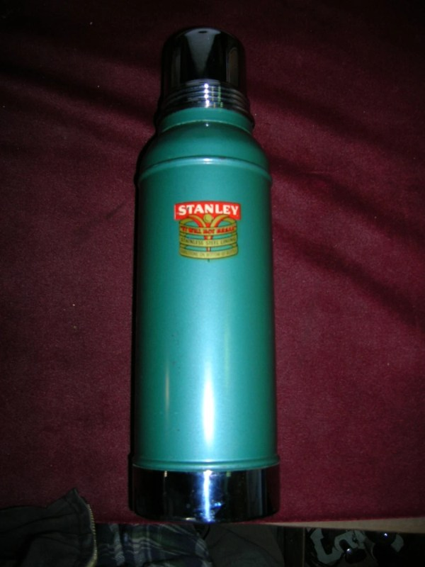 Vintage Metal Stanley Thermos Industrial Decor