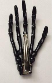 pcs black skeleton hand