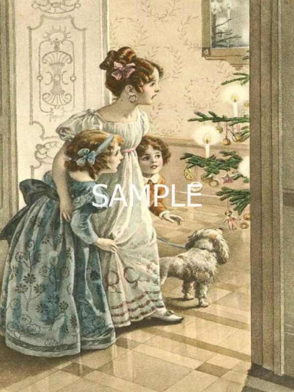 Victorian Christmas Fabric Block 12-1364 Bellesfabricblocks