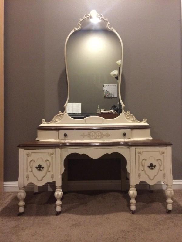 Sold Antique Shabby Chic Vanity Dresser. 1930' Victorian