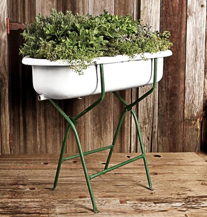 Antique European Baby Bathtub With Stand Porcelain And Cast