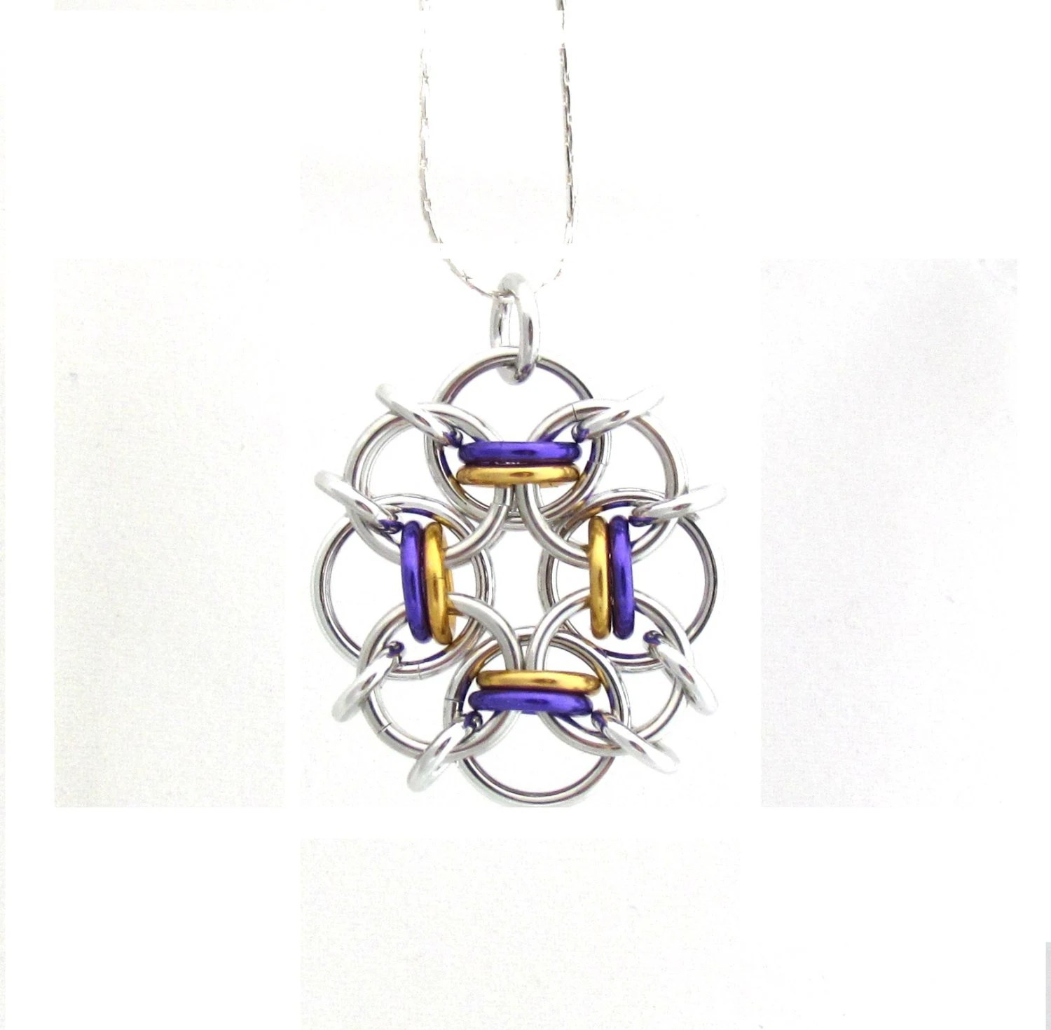 Chain Mail Pendant Multicolor Jewelry Jump Ring Jewelry