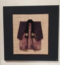 Japanese kimono wall art cotton fabric vintage by