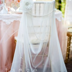Chair Covers Wedding Buy Revolving For Study Lovely Ivory Chiffon Chiavari Cover With Pearl Brooch