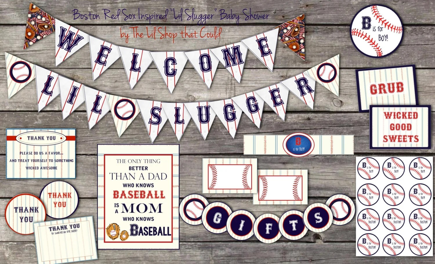 Baseball Baby Shower Decorations Lil By Littlepartythatcould