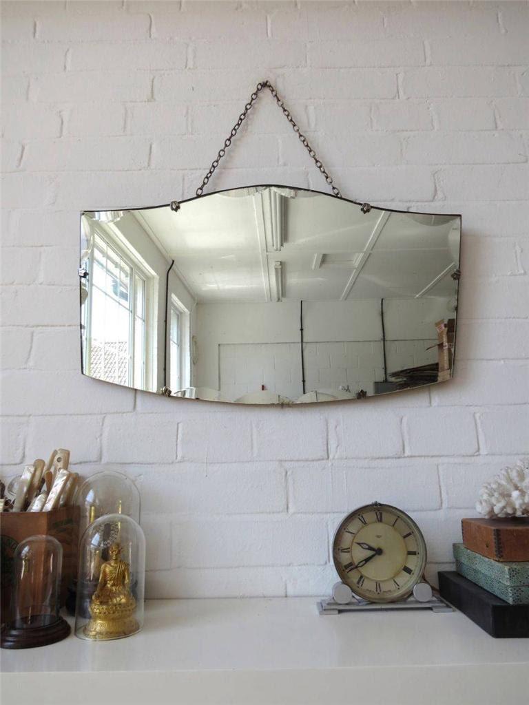 Bordo bisellato vintage parete specchio Art Deco smussatura